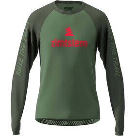 Zimtstern PureFlowz T-shirt Manches longues Homme, bronze green/forest night/cyber red